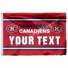 Montreal Canadiens Your Text Custom Flag 3ft X 5ft Polyester NHL Banner Flying S