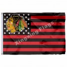 Chicago Blackhawks Custom Flag 3ft x 5ft Polyester NHL Team Banner Flying Size N