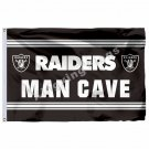 Oakland Raiders Man Cave Flag 3ft X 5ft Polyester NFL1 Oakland Raiders Banner Fl