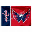 Washington Capitals wordmark Flag 3ft x 5ft Polyester NHL Banner Washington Capi