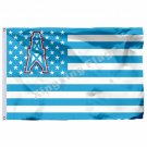 Houston Oilers With Modified US Flag 3ft X 5ft Polyester NFL1 Banner Flying Size