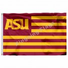 Arizona State Sun Devils With Modified US Flag 3ft x 5ft Polyester NCAA Banner F