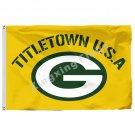 Green Bay Packers Titletown USA Flag 3ft X 5ft Polyester NFL1 Team Banner Flying