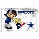 Dallas Cowboys vs Houston Texans Flag 3ft x 5ft Polyester NFL Team Banner Flying