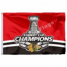 Chicago Blackhawks Stanley Cup Champions 2015 Flag 3ft X 5ft Polyester NHL Banne