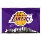Los Angeles Lakers Los Angeles City Skyline Flag 3ft X 5ft Polyester NBA1 Banner
