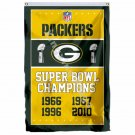 Green Bay Packers Super Bowl Champions Flag 3ft X 5ft Polyester NFL1 Banner Flyi