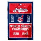 Cleveland Indians World Series Champions Flag 3ft X 5ft Polyester MLB Banner Fly