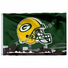 Green Bay Packers Helmet Green Bay Skyline Flag 3ft X 5ft Polyester NFL1 Team Ba