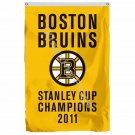 Boston Bruins Stanley Cup Champions 2011 Flag 3ft X 5ft Polyester NHL Team Banne
