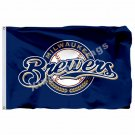 Milwaukee Brewers Flag 3ft X 5ft Polyester MLB Milwaukee Brewers Banner Flying