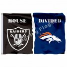 Oakland Raiders Denver Broncos Flag 3ft x 5ft Polyester NFL Banner Size No.4 90*