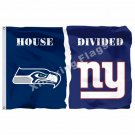 Seattle Seahawks New York Giants House Divided Flag 3ft x 5ft Polyester NFL Bann