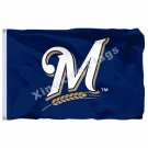 Milwaukee Brewers flag 3x5 FT Banner 100D Polyester MLB Flag s