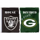 Oakland Raiders Green Bay Packers Flag 3ft X 5ft Polyester NFL Banner Size No.4