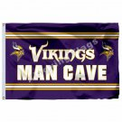 Minnesota Vikings Man Cave Flag 3ft X 5ft Polyester NFL1 Minnesota Vikings Banne