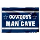 Dallas Cowboys Lone Star Man Cave Flag 3ft X 5ft Polyester NFL1 Banner Flying Si