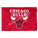 Chicago Bulls Flag 3ft X 5ft Polyester NBA1 Chicago Bulls Banner Flying Size No.