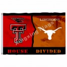 Texas Tech Red Raiders Texas Longhorns House Divided Flag 3ft X 5ft Polyester NC