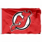 New Jersey Devils Large Logo Flag 3ft x 5ft Polyester NHL Banner New Jersey Devi