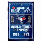 Toronto Blue Jays World Series Champions Flag 3ft X 5ft Polyester MLB Banner Fly