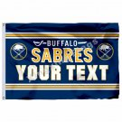 Buffalo Sabres Custom Your Text Flag 3ft X 5ft Polyester NHL Team Banner Flying