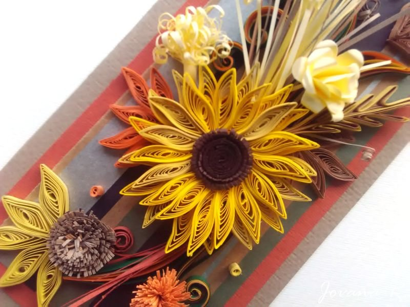 Quilling card/ Birthday card/ Thanksgiving card/ Handmade card// wedding/ Anniversary/ Wall art