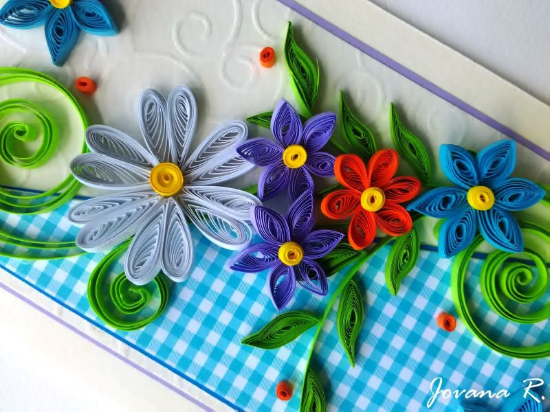 Handmade Quilling Card Birthday Greeting Card Anniversary Card