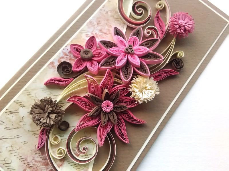 Beautiful Handmade Card Art Card Quilling Card Greeting