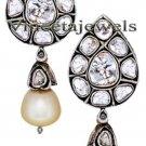 Amazing Vintage Style .925 Sterling Silver 1.55Ct. Anti. Cut Diamond Earrings
