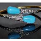 Gorgeous 0.32Ctw Rose Cut Diamond Silver Cuff Antique Bracelet