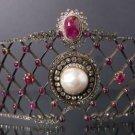Gorgeous Victorian Look 10.50Ctw Rose Cut Diamond Silver Antique Tiara & Crown