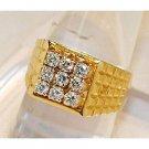 1.00Ctw Diamond 14K Yellow Gold Gents Ring Ja42435