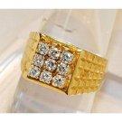 1.00Ctw Diamond 14K Yellow Gold Gents Ring
