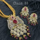 Bridal Cz Kundan High Quality Indian Bollywood Ethnic Partywear Pendant Set GY0