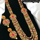 Bollywood Style Ethnic Partywear Designer Handmade Earrings Necklace Set fB233