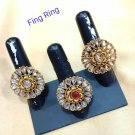 High Quality Indian Bollywood Ethnic fashion stone Gold Plated Ring(1pc) zf018