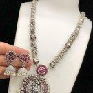 High Quality Indian Bollywood Ethnic fashion Silver finish Pendant set UP298