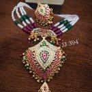 Jadau Top Quality Indian Bollywood Ethnic fashion Partywear Pendant Set DG999