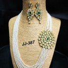 Indian Bollywood Gold Plated Kundan Choker Necklace Earring Set Fh496