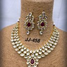 Handmade Kundan Bollywood Style Partywear Designer Necklace Set CO803