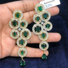 Cz High Quality South Indian Bollywood Ethnic Fashion Partywear Earrings V887
