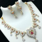 Cz High Quality Indian Bollywood Ethnic Fashion Partywear Necklace Set Wu800