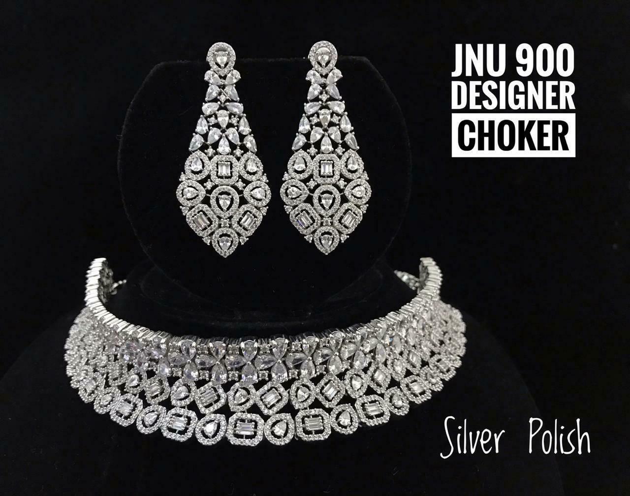 Cz High Quality Indian Bollywood Fashion Partywear Choker Necklace Set U210