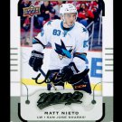 2015-16 MVP Hockey  Silver Script Parallel  #51  Matt Nieto