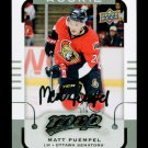 2015-16 MVP Hockey  Silver Script Parallel  #196  Matt Puempel  RC