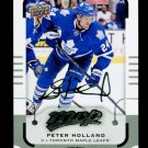 2015-16 MVP Hockey  Silver Script Parallel  #39  Peter Holland