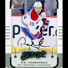 2015-16 MVP Hockey  Silver Script Parallel  #9  P.A. Parenteau