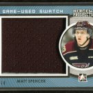 2014-15 ITG Leaf Heroes & Prospects Game Used Swatch Jersey  Matt Spencer  18/60