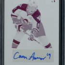 2014-15 ITG Leaf Metal Hockey Autograph Printing Plate 1/1 BA-CA1  Cameron Askew